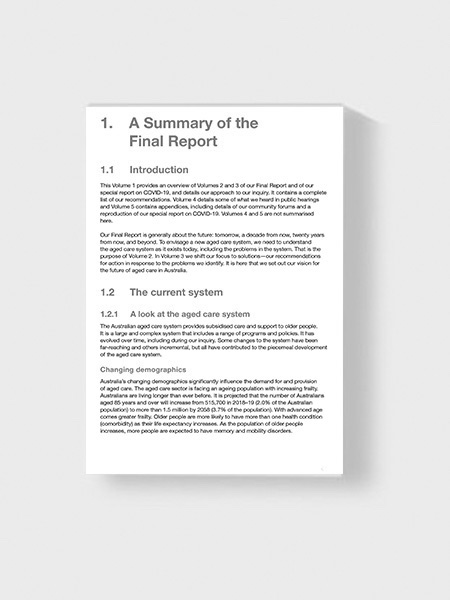 Image of a executive summary report
